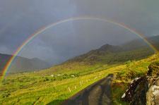 アイルランド 虹 田舎 観光