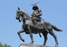 仙台城址 騎馬像