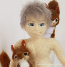 羊毛フェルト イケメン 人形