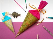 schultüte basteln, anleitung, video, kathrins papier