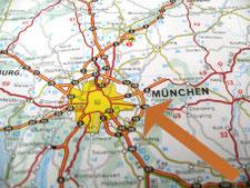 Lage von Elodie Serviced Apartments im Osten von München