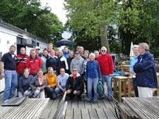 Gruppenbild der Teilnehmer Sommerregatta des BSV Hamburg am 20.6.2015