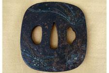 鉄製 銀象嵌