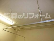 松戸市病院用カーテンレール取付後