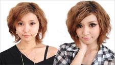 【半顔メイク】池田沙代ちゃんの ブラウン囲みメイク