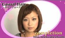 前髪編み込みボブ hair style 唐沢志帆