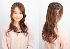 巻き髪ガーリーヘア