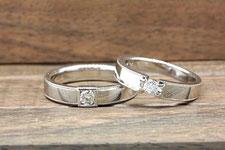 祖母から譲り受けたダイヤを生かしたリング