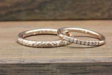 微妙に好みが違う結婚指輪