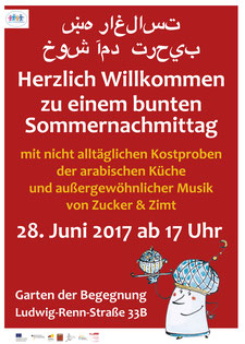 Plakat für ein Nachbarschaftsfest - Illustration und Layout