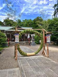 加佐登神社:茅の輪