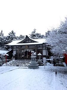 加佐登神社:雪景色