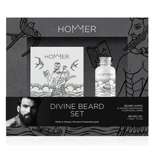 HOMMER Divine Beard Set Oil & Wipes