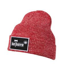 barTbaren winter mütze vintage rot