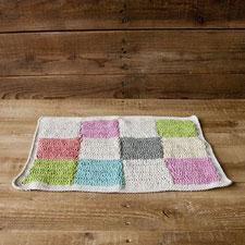 かぎ針編みのマット カラフル