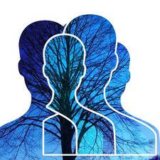 silhouette avec arbre pour test de personnalité par Laurence martin