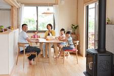 ヒノキ 丸テーブル