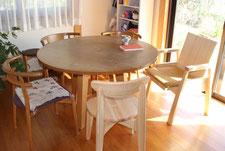 ひのき 丸テーブル