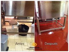 Zona del horno antes y después