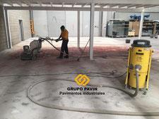 Preparación del pavimento industrial
