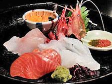 熟成魚も含めた刺身の盛り合わせ