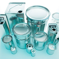metal cans metal canisters metal pails metal bottles metal packaging HUBER Packaging