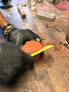 Delfter Sand  Metall gießen