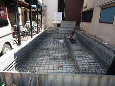 台東区 木造3階建て耐火建築物 基礎工事画像3