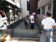 台東区 木造3階建て耐火建築物 基礎工事画像2