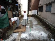 基礎工事 捨てコンクリート打設画像2