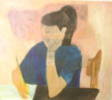 "Eva Hradil ""Pia rosa"" 2003, Eitempera und Öl auf LW, 80 x 90 cm"