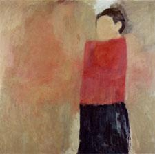 """""""SP 2003"""" (aus der Diplomarbeit """"an- und abwesende Modelle""""), 2003, Öl und Eitempera auf Leinwand 130 x 130 cm"""