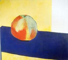 """""""Apfel"""" 1996, Pigmente und Acrylbinder auf Leinwand, 80 x 90 cm"""