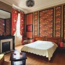 Chambre Bao-Dai au Château Belle Epoque dans les Landes 40