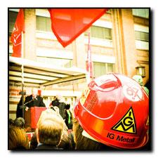 2009 Warnstreik bei Opeln Rüsselsheim