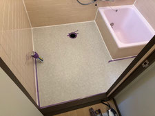浴室シート廻りシーリング処理