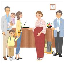 厚生労働省 女性労働協会 リーフレット ポスター 旅館 イラスト