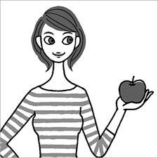 小学館『女性セブン』女性イラスト モノクロイラスト 1色