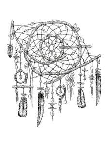 dessin, gratuit, téléchargement, coloriage, nature, attrape rêves, kitsch, paradise, kitsch paradise, encre de chine, encre, ink