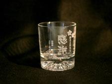 一番人気のグラス。感謝の文字が入ったデザイン。