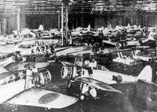 SUBARUの前身 中島飛行機製作風景