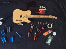 fender telecaster disassembled
