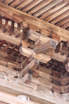 長野県 大法寺 国宝 三重の塔 二層・三層 三手先