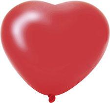 Ballonnen hartje rood 6 st € 2,25