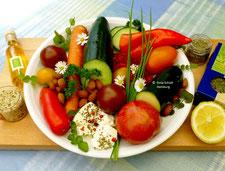 Rohkostsalat mit Mandeln - beste Zutaten