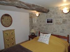 Downstairs bedroom, double bed, cupboard, wardrobe
