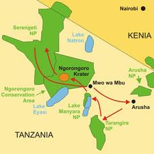 Kleingruppensafari Tanzania ab/bis Arusha