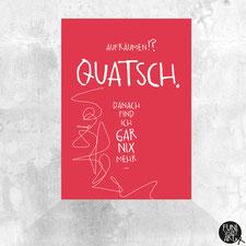 Postkarte Quatsch