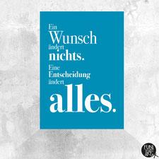 Postkarte mit Spruch Alles