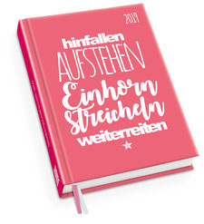 FUNI SMART ART Einhorn-Taschenkalender 2019
